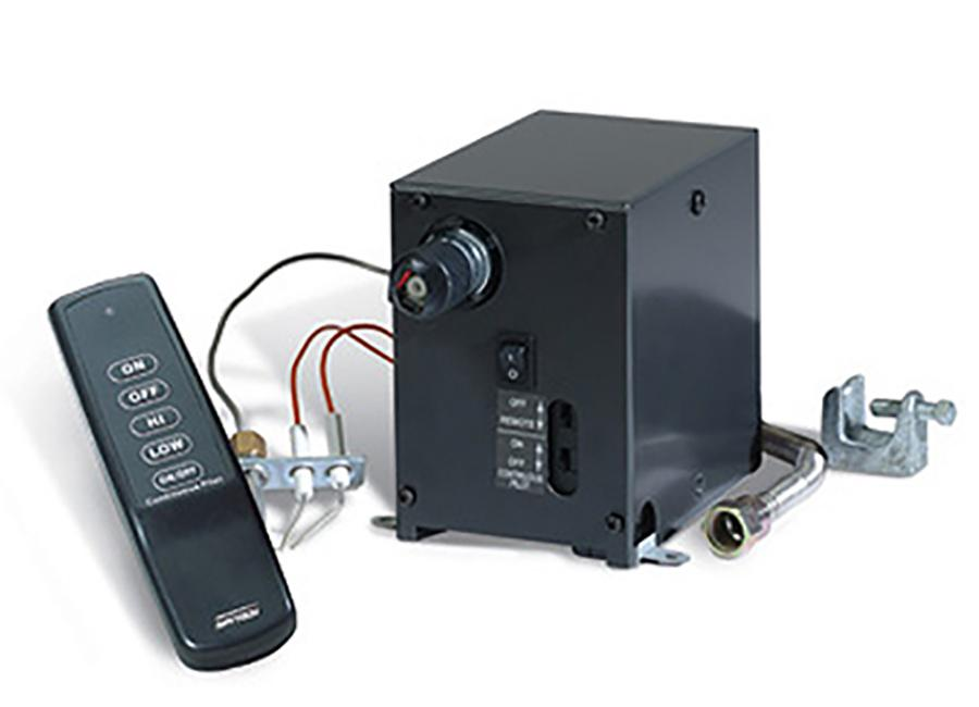skytech on fireplace mode set thermostat of off close remote up control